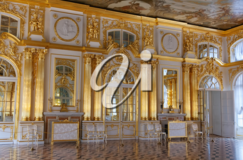 The interior of the luxurious Catherine Palace