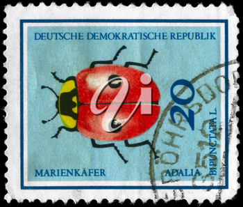 GERMAN DEMOCRATIC REPUBLIC - CIRCA 1968: A Stamp printed in GERMAN 