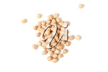 Royalty Free Photo of a Pile of Organic Chickpeas