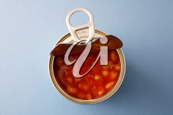 Royalty Free Photo of a Can of Beans