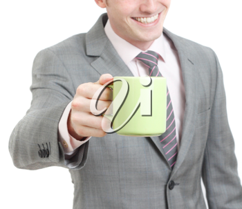 Royalty Free Photo of a Businessman Drinking Coffee
