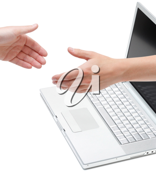 Royalty Free Photo of Two People Shaking Hands
