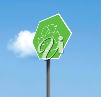 Royalty Free Photo of a Recycling Sign