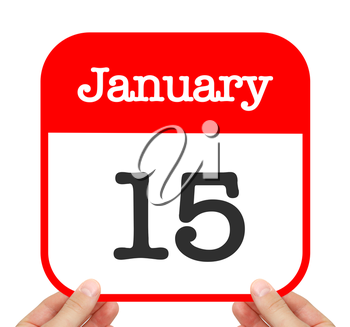 January 15 written on a calendar