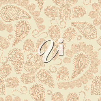 Royalty Free Clipart Image of a Paisley Pattern