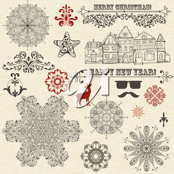 Royalty Free Clipart Image of Holiday Elements