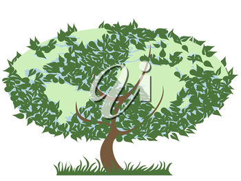 Royalty Free Clipart Image of an Earth Tree