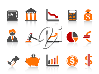 Royalty Free Clipart Image of Bank Icons