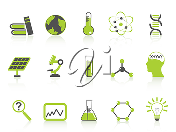 Royalty Free Clipart Image of Science Icons