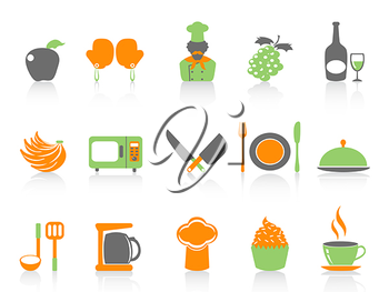 Royalty Free Clipart Image of Food Icons