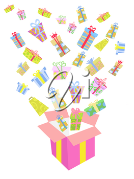Royalty Free Clipart Image of a Bunch of Presents