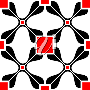 Royalty Free Clipart Image of an Abstract, Red and Black Background