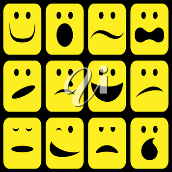 Royalty Free Clipart Image of a Set of Emotions