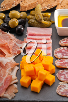 Royalty Free Photo of an Italian Appetizer Platter