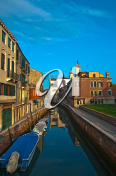 Venice Italy unusual pittoresque view of the  most touristic place in the world still can find some secret hidden spot
