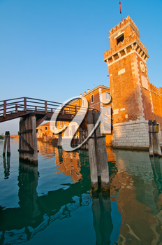 Royalty Free Photo of Venice Italy Arsenale Military Structure