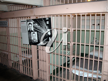 Royalty Free Photo of a Jail Cell in Alcatraz Prison