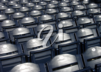 Royalty Free Photo of Rows of Empty Seats
