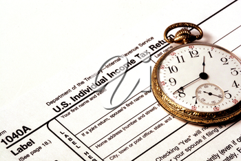 Royalty Free Photo of a 1040a Personal Income Tax Form