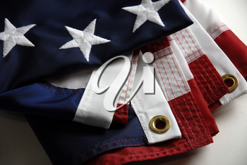 Royalty Free Photo of the First American Flag