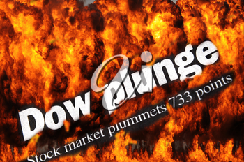 Royalty Free Photo of a Dow Plunge