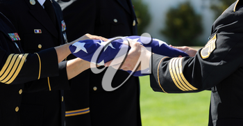 Royalty Free Photo of Honor Guards Handling Flag