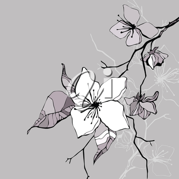 Royalty Free Clipart Image of a Blossoming Branch