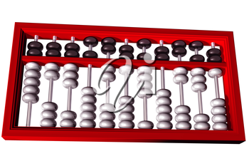Royalty Free Clipart Image of a Mathematical Abacus