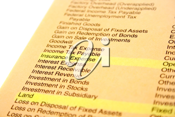 Royalty Free Photo of a Banking and Finance Document