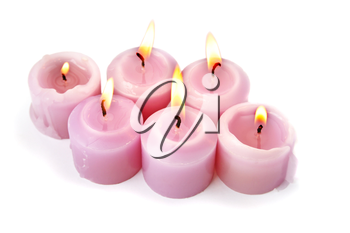 Royalty Free Photo of Burning Candles