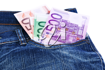 Royalty Free Photo of Money in a Pocket