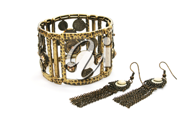 Royalty Free Photo of a Bracelet and Earrings