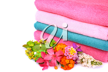 Royalty Free Photo of a Stack of Clean Towels