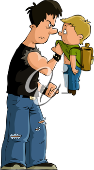 Royalty Free Clipart Image of Bullying