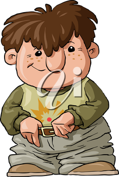 Royalty Free Clipart Image of a Boy