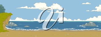 Royalty Free Clipart Image of an Ocean Coastline
