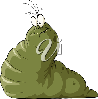 Slug on a white background, vector illustration