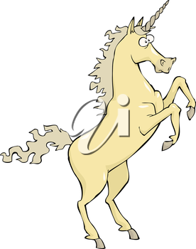 Unicorn on a white background vector illustration
