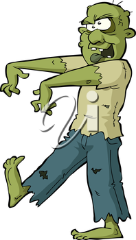 Zombie on a white background vector illustration