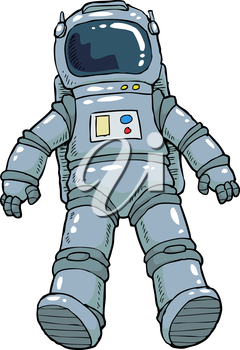 Astronaut on a white background vector illustration