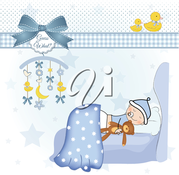 Royalty Free Clipart Image of a New Baby