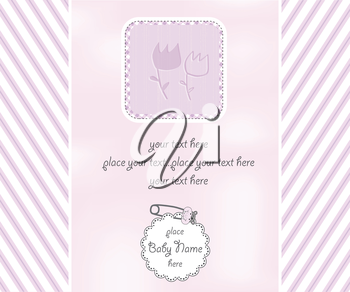 baby girl shower card