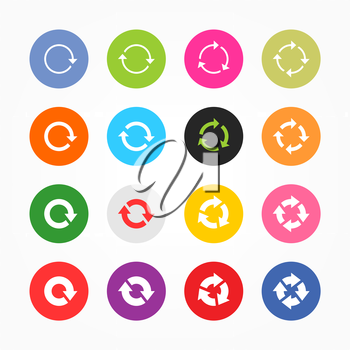 Royalty Free Clipart Image of a Set of Refresh Icons