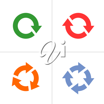 Royalty Free Clipart Image of a Set of Arrow Reload Icons