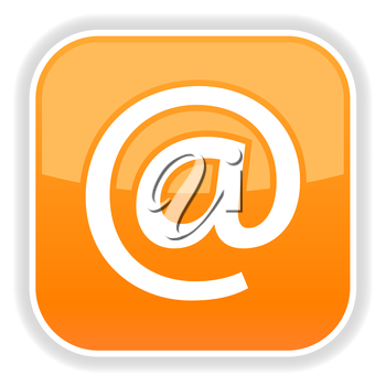 Royalty Free Clipart Image of an Email At Sign