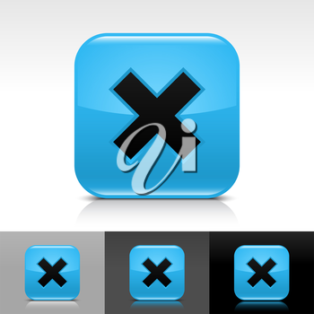 Royalty Free Clipart Image of a Set of Delete Icons