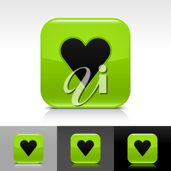 Royalty Free Clipart Image of a Set of Heart Icons