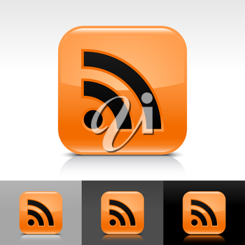 Royalty Free Clipart Image of a Set of RSS Feed Icons