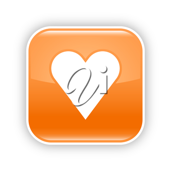 Royalty Free Clipart Image of a Heart Icon