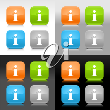 Royalty Free Clipart Image of a Set of Info Icons